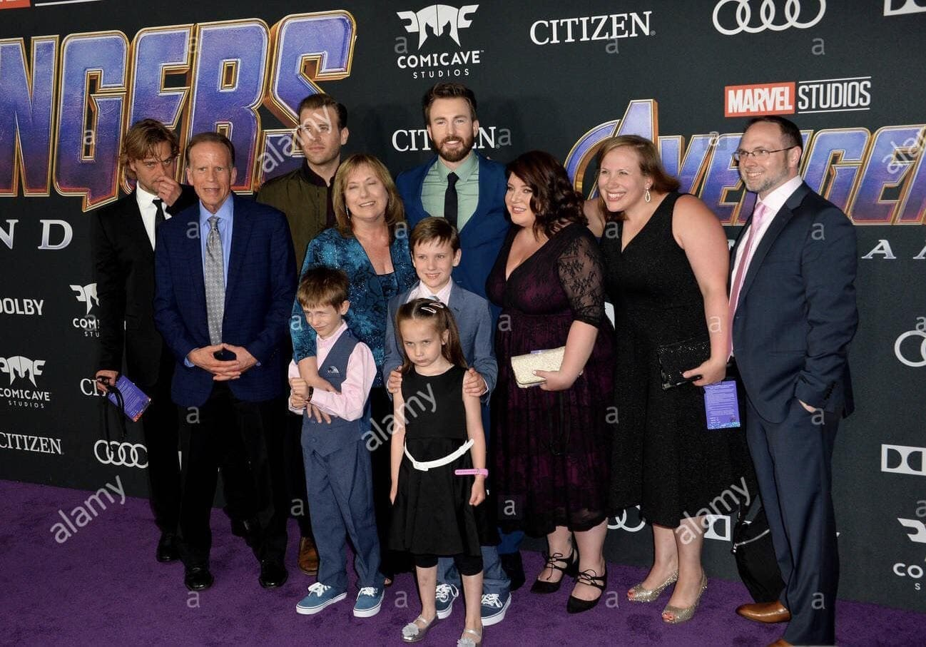 Chris Evans with his Family