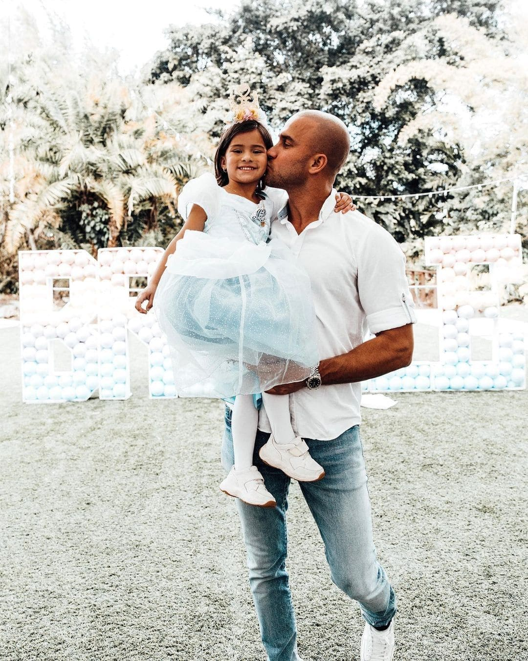 Jason Stone with his Daughter