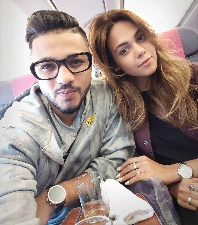 Raftaar with his wife Komal Vohra