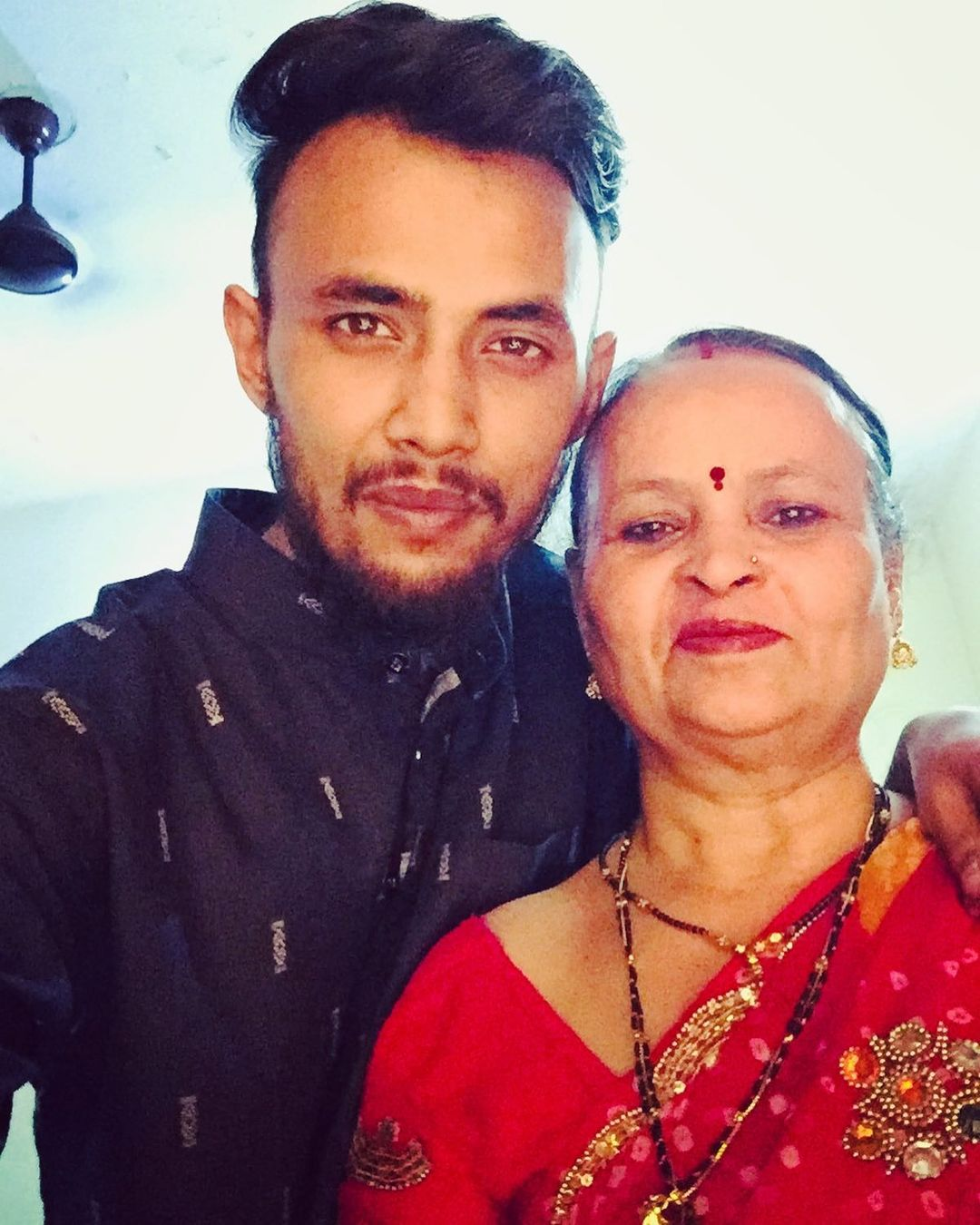 Raga Rapper with his Mother