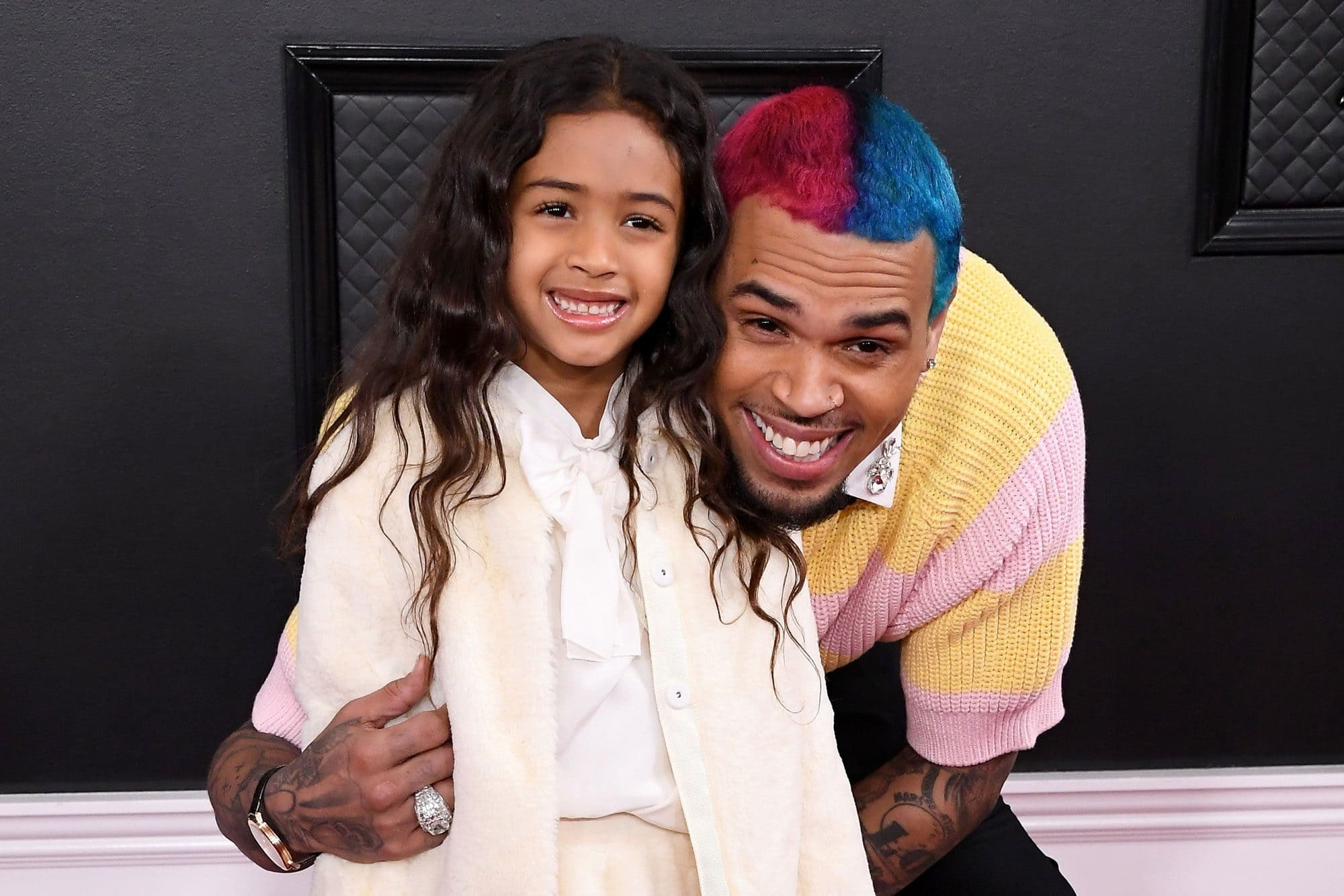 Chris Brown with his daughter Royalty Brown