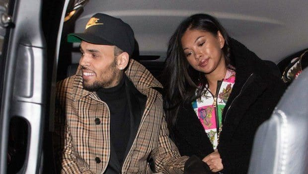 Chris Brown with his wife Ammika Harris