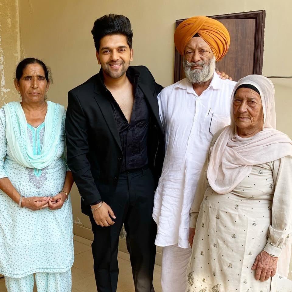 Guru Randhawa with his Family