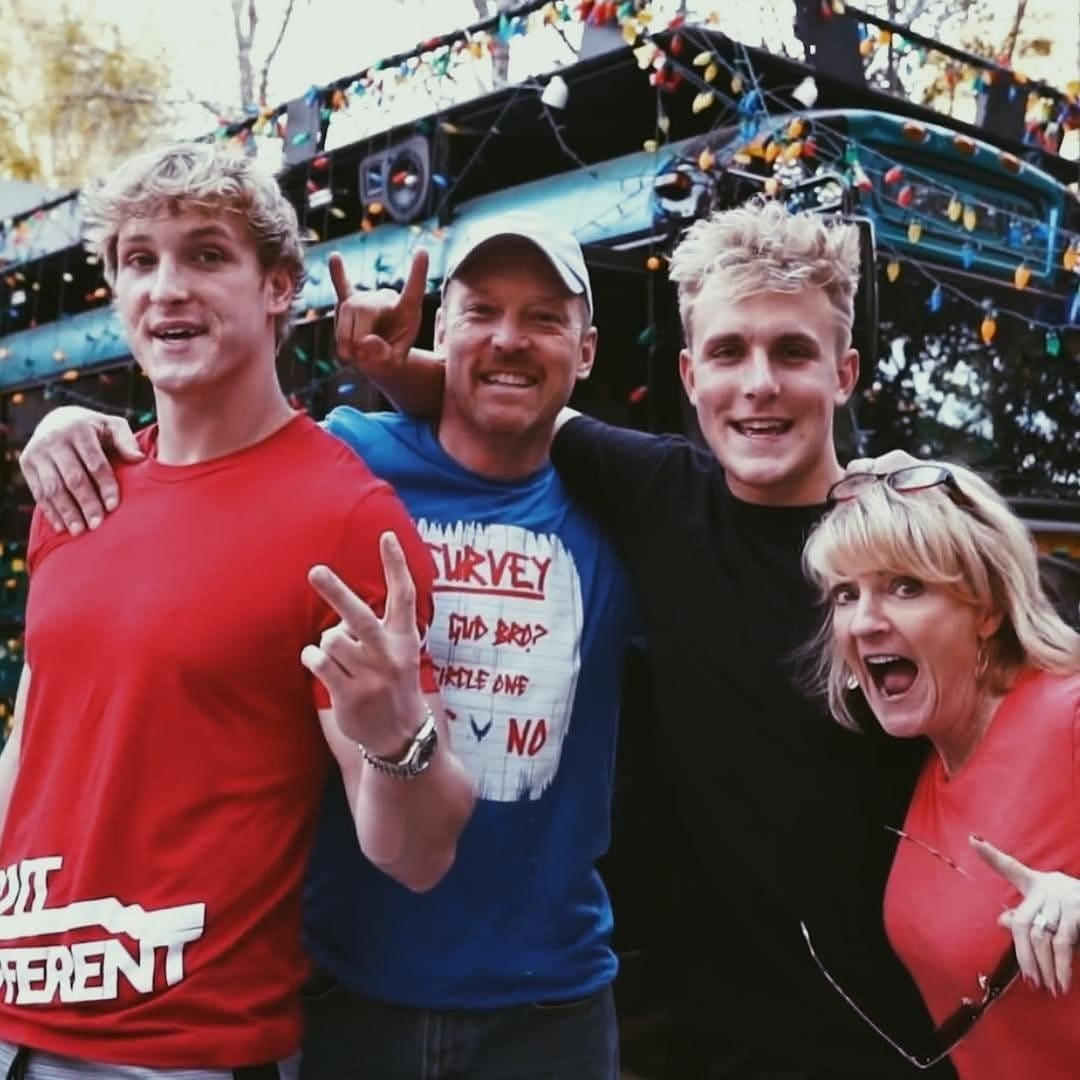 Logan Paul with his family