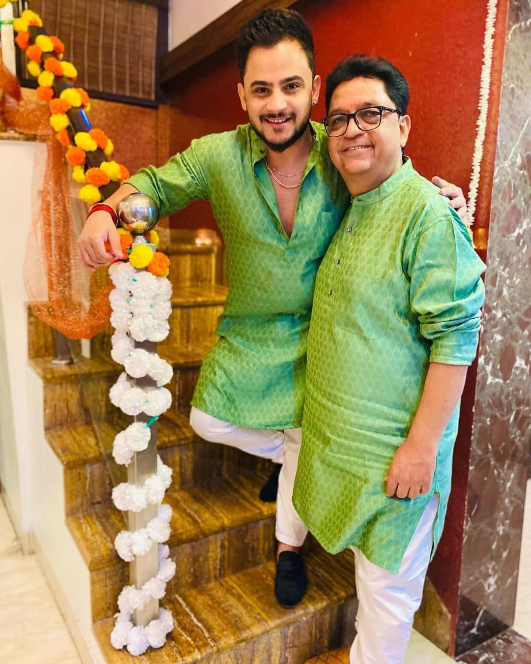 Millind Gaba with his father Jatinder Gaba