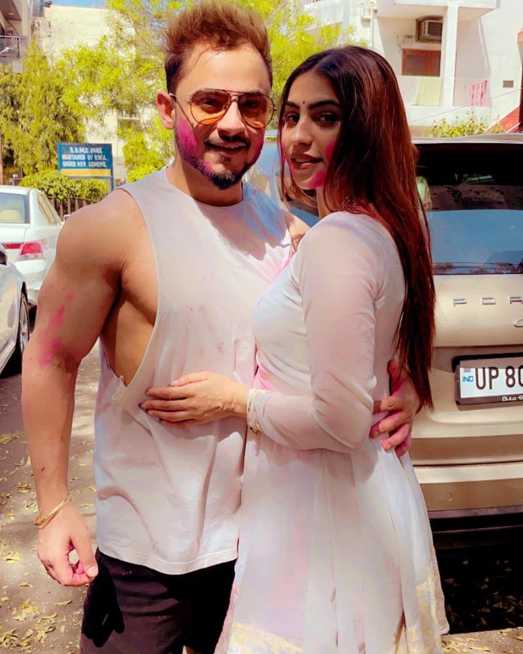 Millind Gaba with his girlfriend Pria Beniwal