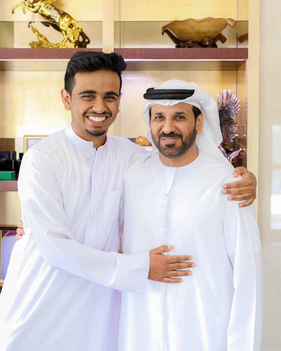 Rashed Belhasa with his father Saif Ahmed Belhasa