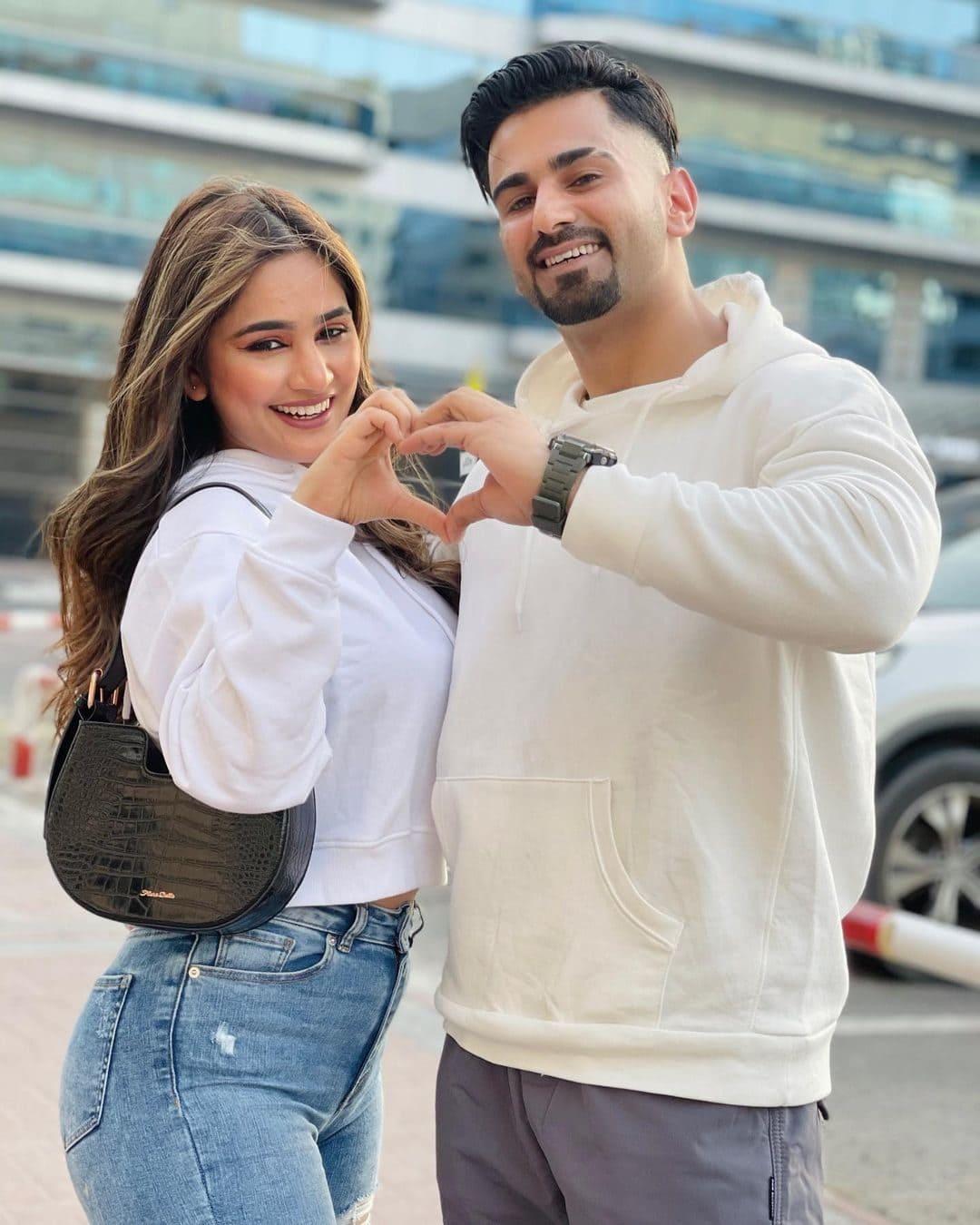 Sameer Handoo with his girlfriend Pooja Thapa