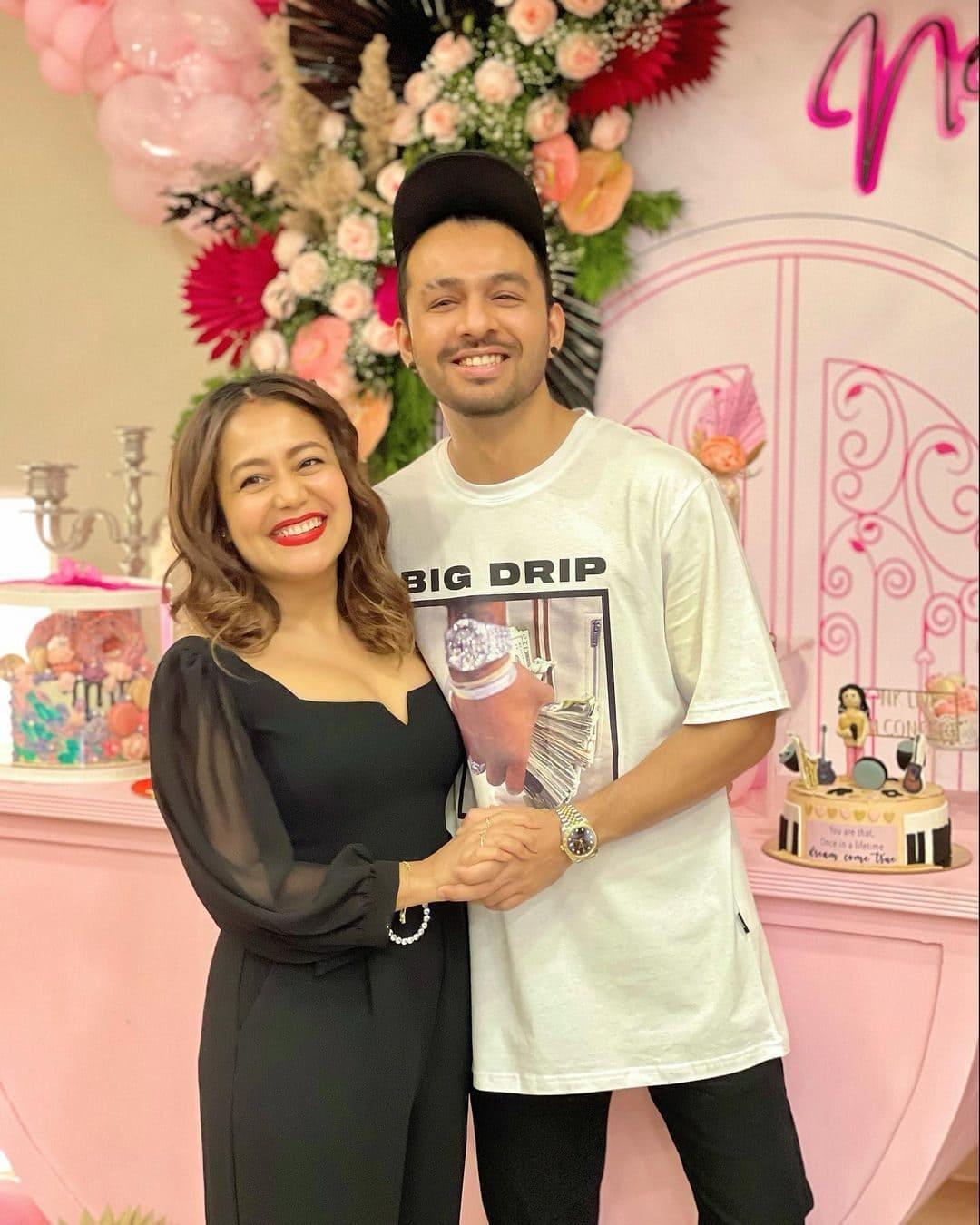 Tony Kakkar with his Sister Neha Kakkar