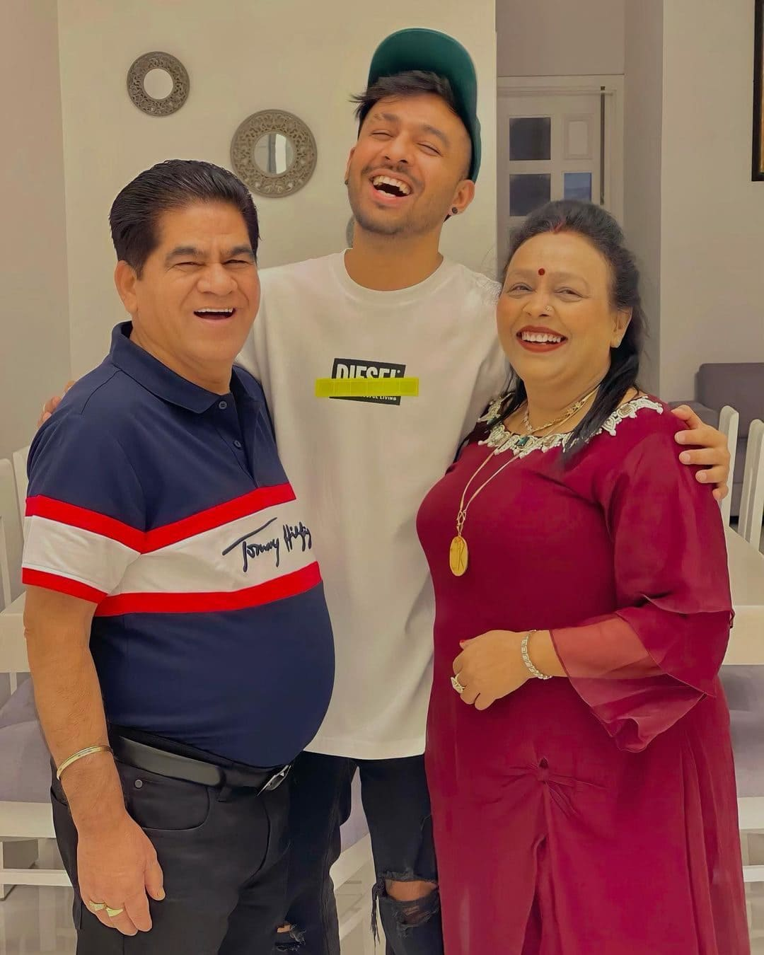 Tony Kakkar with his father and mother