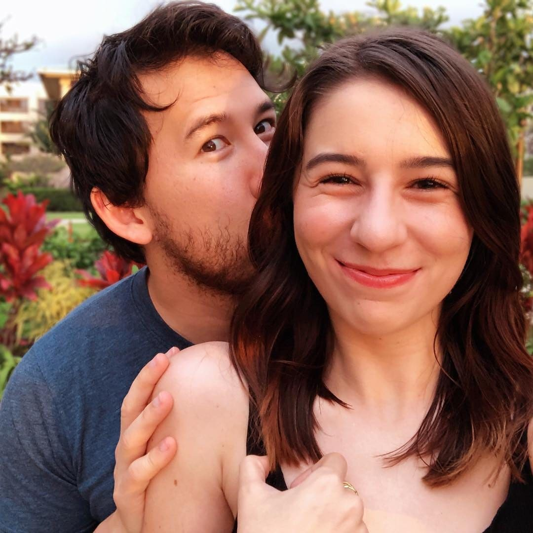 Markiplier with his girlfriend Amy Nelson