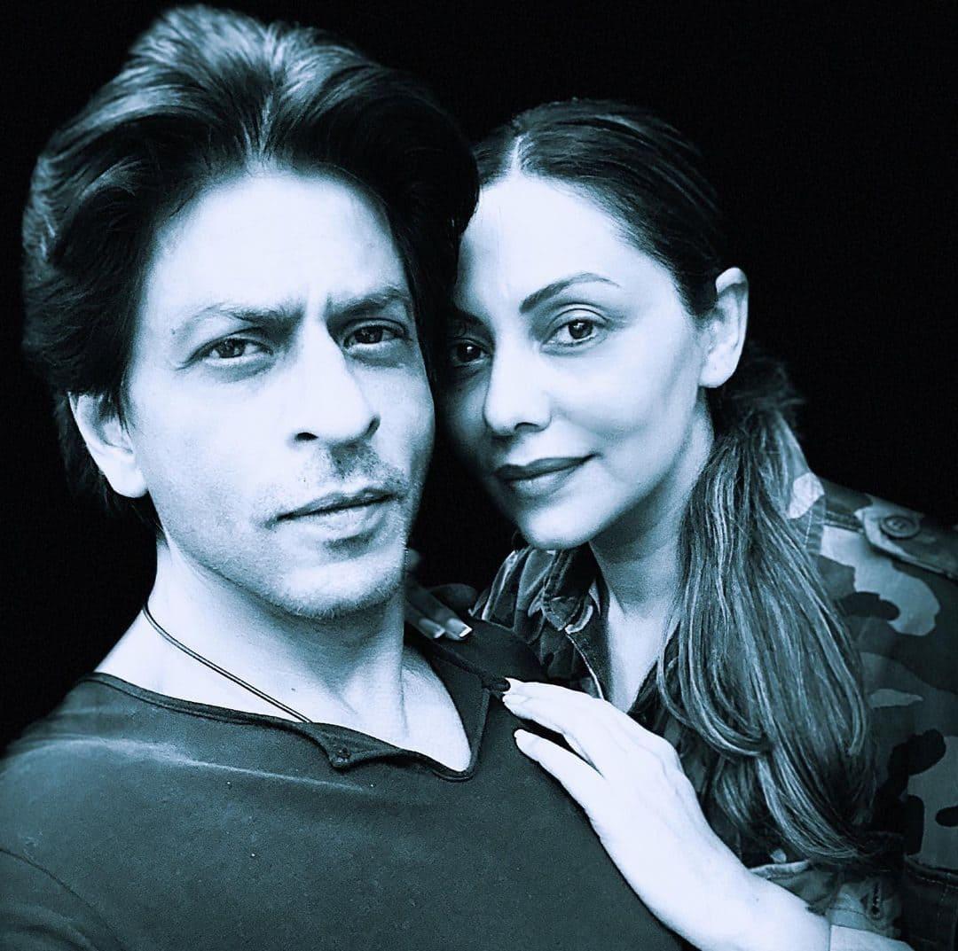 Shahrukh Khan with his wife Gauri Khan