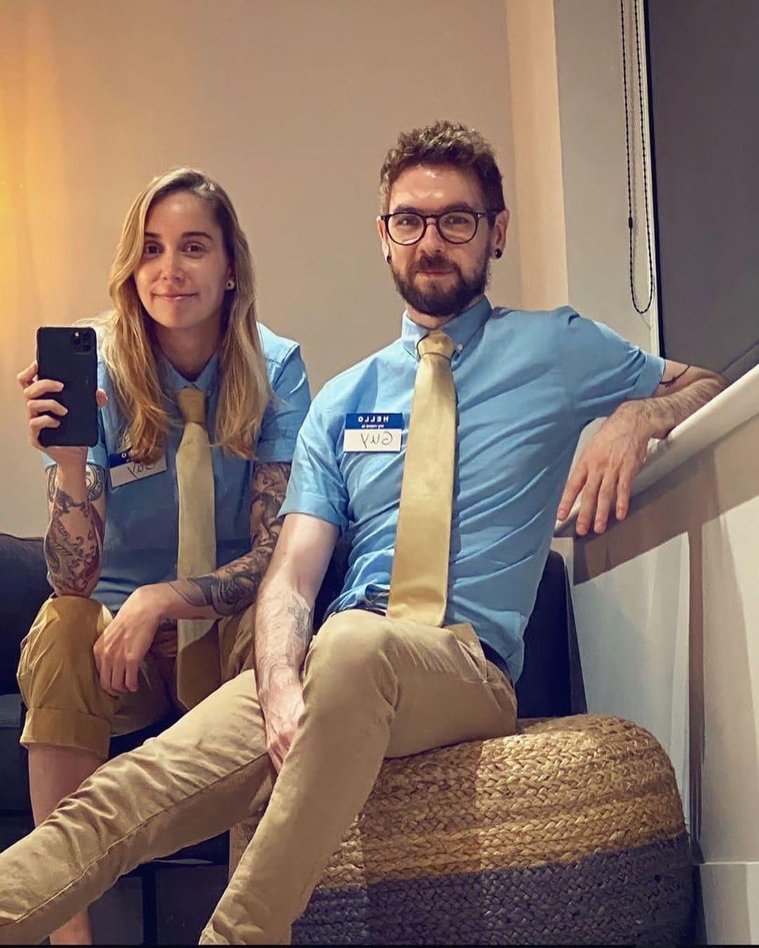 Jacksepticeye with his girlfriend Gab Smolders