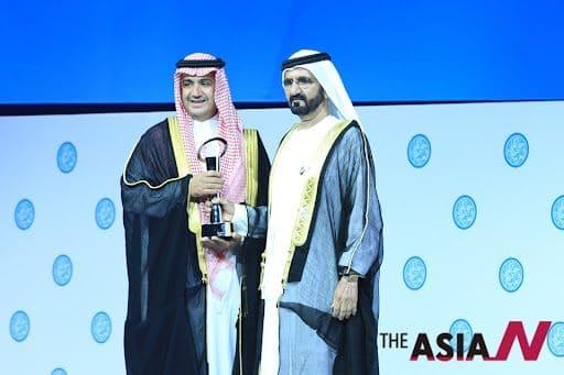 Waleed bin Ibrahim Al Ibrahim - award ceremony